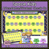 SmartBoard Attendance/Student Check-In Space Theme