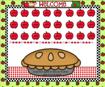 Smartboard Attendance/Apple Theme