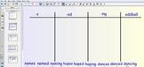 Smartboard Word Sorts -s, -es, -ed, & -ing