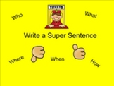 Smartboard Writing a Super Sentence