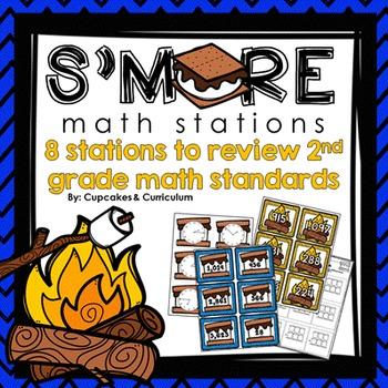 Second Grade Math Centers: S'MORES THEME