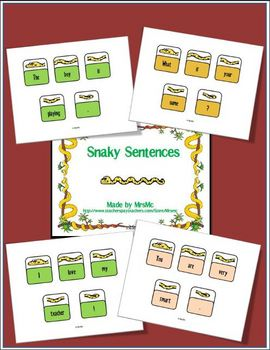 Snaky Sentences - Sentence Practice