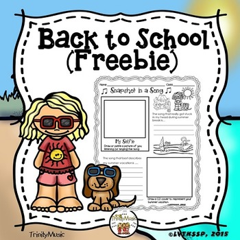 Snapshot in a Song (Back to School Music Freebie)