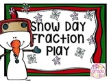 Snow Day Fraction Play