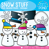 Snow Stuff - Winter Snowmen Clipart Set for Teachers