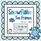 Snowflake 10 Frames (#'s 1 - 20) ~ 4 Sets!