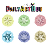 Snowflake Art Clip Art - Great for Art Class Projects!