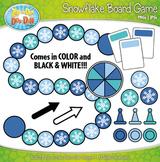 Snowflake Build A Board Game Clip Art Set — Over 20 Colorf