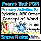Snowflake Freebie: Dolch Sight Word Poetry Pack