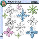 Snowflake Clip Art, Winter