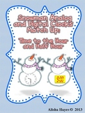Snowman Clock Match Up:Time to the Hour/Half Hour