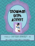 Snowman Glyph Activity (Winter Math & Language Arts Poetry)
