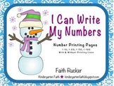 Snowman - I Can Write My Numbers