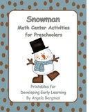Snowman Math Center Activities for Preschoolers