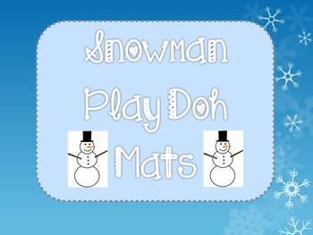 Snowman Play Doh Mats
