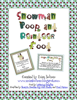 Snowman Poop and Magic Reindeer Food - FREE!