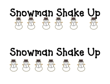 Snowman Shake Up