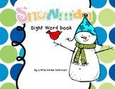 Snowman Sight Word Book