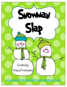 Snowman Slap Sight Word Activity