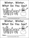 Snowman, Snowman- Winter Kindergarten Emergent Reader book