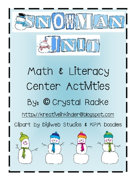 Snowman Unit! A WINTER Wonderland of Teaching!!