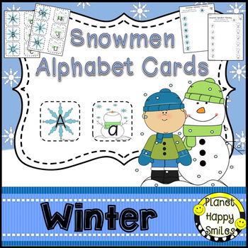 Alphabet Matching Cards ~ Snowmen/Winter/Christmas