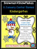 Snowmen and Snowflakes Common Core Centers January Bundle