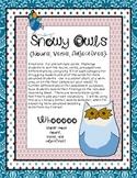 Snowy Owls {Nouns, Verbs, Adjectives} Sort