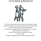 Social Dance Handout and Worksheet