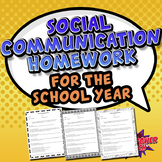 Social Communication Homework for a School Year
