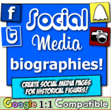 Social Media Biographies!  Twitter, Facebook, Snapchat, an