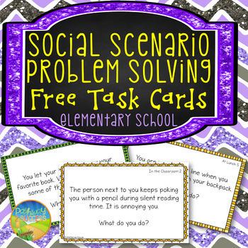 Social Problem Solving Task Cards FREE Sampler