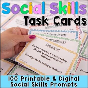 Social Skills Task Cards - 80 Cards