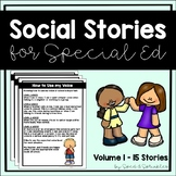 Social Stories Bundle! {15 Social Stories for Students wit