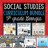 Social Studies Curriculum Bundle for Georgia 5th Grade Standards