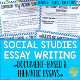 Social Studies Essay Writing!