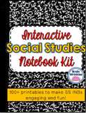 Interactive Social Studies Notebook Kit -- 100+ Printables
