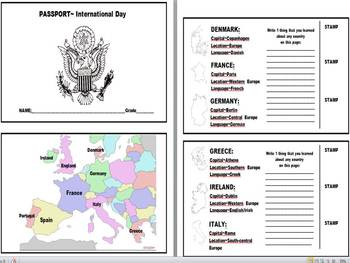 Social Studies Student Passport Template