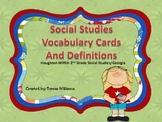Social Studies Vocabulary Cards/ Houghton Mifflin 2nd Grad
