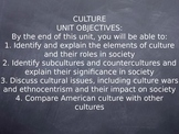 Sociology Culture Unit