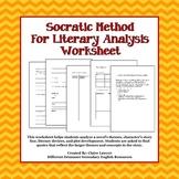 Socratic Method for Literary Analysis Worksheet