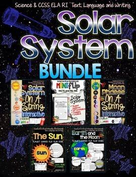 Solar System Bundle {Mini Flip, On A String Interactives, Flip Flap Shape Books}