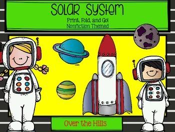 Solar System Foldable: Nonfiction Print & Go FREEBIE