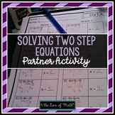 Solving 2-step Equations Partner Activity