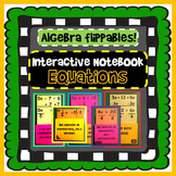 Interactive Notebook: Solving Algebra Equations (8 foldables)