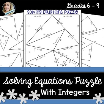 Solving Equations Puzzle {With Integers}