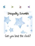 Solving Linear Inequalities Warm Up Scramble Activity