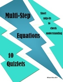 Solving Multi-Step Equation Quizlets