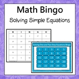 Solving One Step and Two Step Equations Bingo