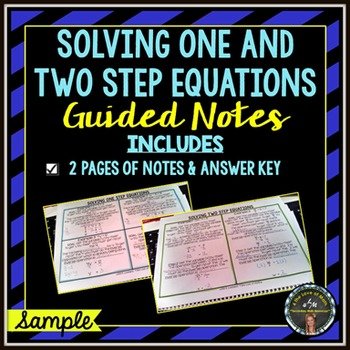 Solving One and Two Step Equations: Basic Guided Notes